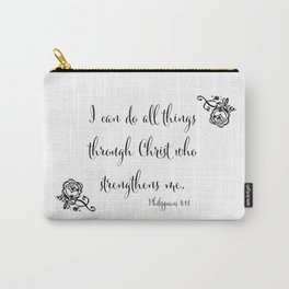 I Can Do All Things Through Christ Who Strengthens Me Carry-All Pouch