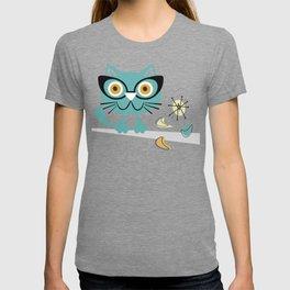 1950s Atomic Age Mid Century Modern Kitty Cat T-shirt