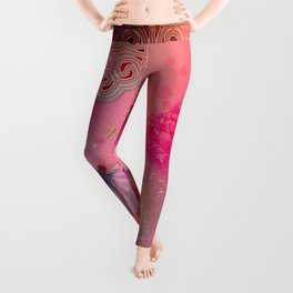 Wonderful butterflies with dragonfly Leggings