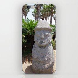 Jeju Stone Statue iPhone Skin