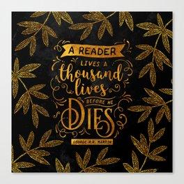 Thousand Lives - gold Canvas Print