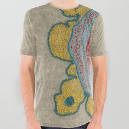 Growing - Pinus 1 - plant cell embroidery All Over Graphic Tee