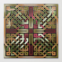 Earthtone Celtic Knot Canvas Print