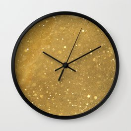 Gold Dust Wall Clock