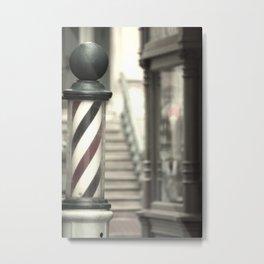 Barber Pole Metal Print