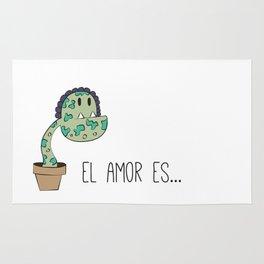 Love is like a plant Rug