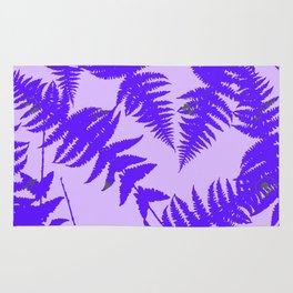 Decorative Grape Purple Ferns Glen on Lilac Color Rug