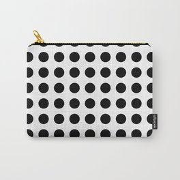 Simply Polka Dots in Midnight Black Carry-All Pouch