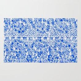 sun floral paisley in ocean blue Rug