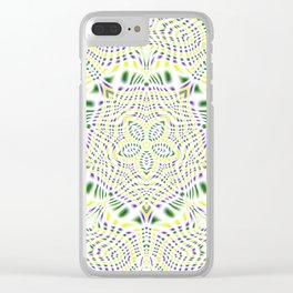 Yellow, Green, Purple Kaleidoscope Clear iPhone Case