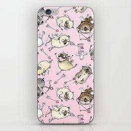 Love is in the Air - Cute Pug Cupids iPhone Skin