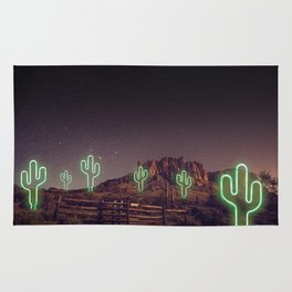 UFO forest Rug
