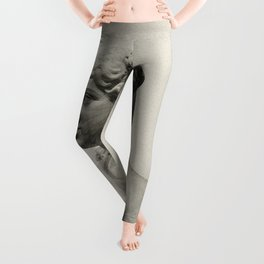 marble statue of spring Leggings