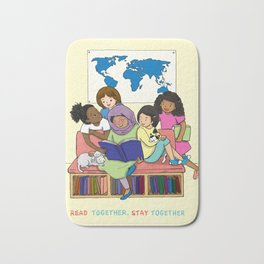 Read Together Stay Together Bath Mat