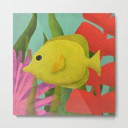 Yellow Fish In The Ocean Metal Print