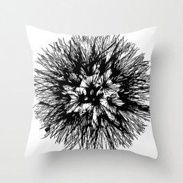 Make A Wish Dandelion Vector In Black Throw Pillow