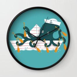 Sailor Octopus Wall Clock