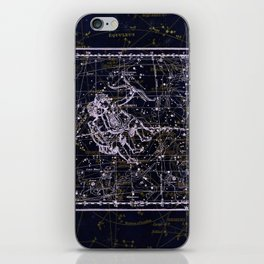 Gemini, Constellation map, Zodiac, Sign sky, Stars, Universe, astrology, astrological, signs, birth iPhone Skin