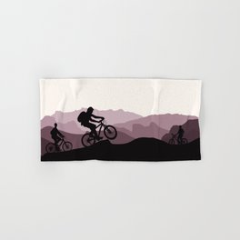 MTB Mountains Hand & Bath Towel