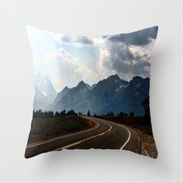 Grand Tetons Throw Pillow