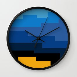 Summer 2016 In Blue Wall Clock