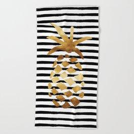 Pineapple & Stripes Beach Towel