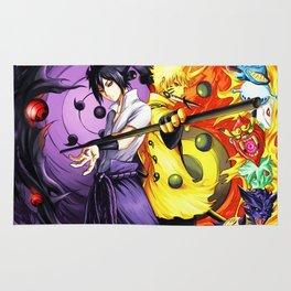 sasuke and naruto Rug