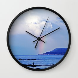 Love under the Rainbow Wall Clock