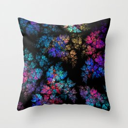Fractal leaves Throw Pillow