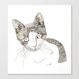 Humphrey the cat Canvas Print