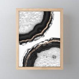 Agate Glitter Glam #2 #gem #decor #art #society6 Framed Mini Art Print