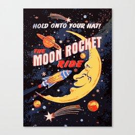 Rocket Moon Ride (vintage) Canvas Print