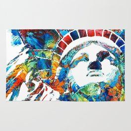 Colorful Statue Of Liberty - Sharon Cummings Rug