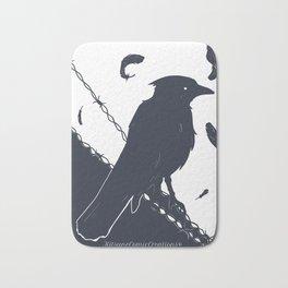 Raven on a Wire Bath Mat