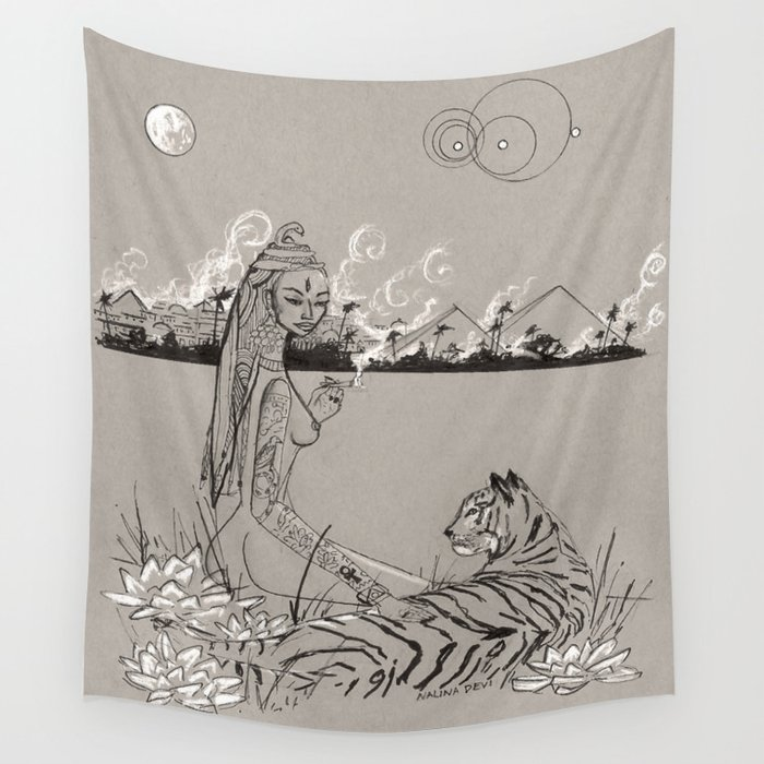 Egyptian Goddess Past Life Wall Tapestry