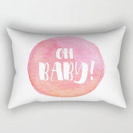 {Oh baby... it's a girl!} Rectangular Pillow