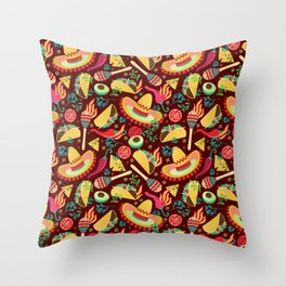 Spicy taco Throw Pillow