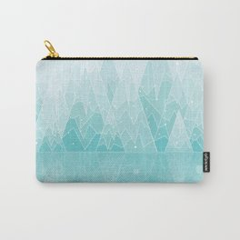 Geometric Lake Mountain IV - Winter Carry-All Pouch