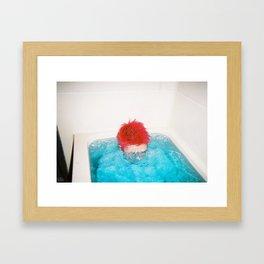 Half A Man Framed Art Print