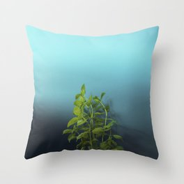 Shy and charming basil Throw Pillow