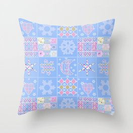 Merry Christmas . New year. Throw Pillow