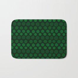 Emerald Green Subtle Gradient Dots Bath Mat