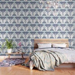 Bohemian Elephant Tribal Boho Gradient Blue Wallpaper