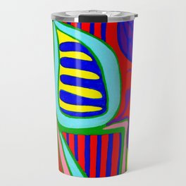Abstract flower and shapes Travel Mug