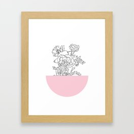 VESSEL - Floral Ink in Pink - Cooper and Colleen Framed Art Print