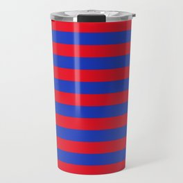 Blue and Red Stripes Travel Mug