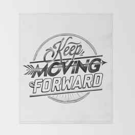 KEEP MOVING FORWARD (white) Throw Blanket