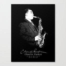 Charlie Parker - Bird -Jazz-Sax-Music Canvas Print