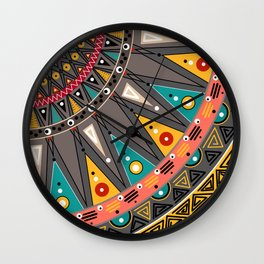 Ethnic tribal ornament Wall Clock