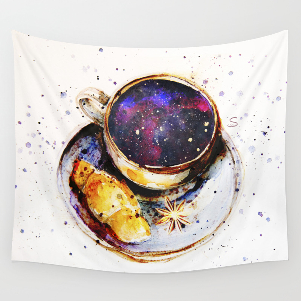 A Cup Of Space Wall Tapestry by Ssvetlankova TPS6136016